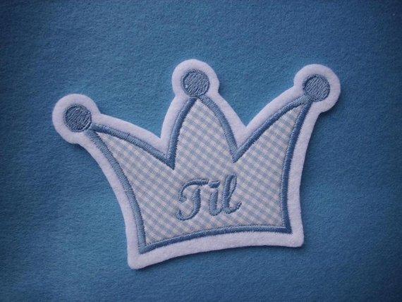 - Aufnäher/Applikation Krone mit Wunschnamen ♥  blau (Kopie id: 100124793) (Kopie id: 100124996) - Aufnäher/Applikation Krone mit Wunschnamen ♥  blau (Kopie id: 100124793) (Kopie id: 100124996)