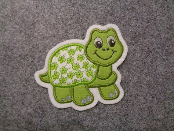 Kleinesbild - Süsse Schildkröte ☆ Applikation ☆ Aufnäher ☆ grün ☆  (Kopie id: 100125000)