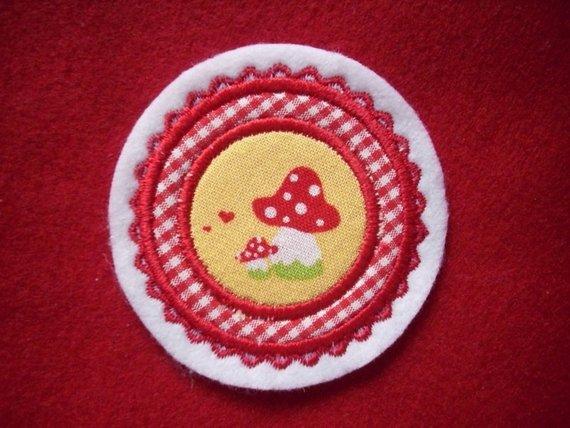 Kleinesbild - Mini-Button Pilz ♥ Applikation ♥ Aufnäher♥  (Kopie id: 100125256)