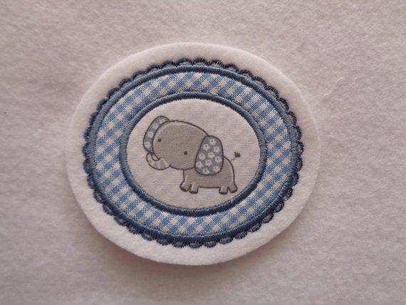 - süsse Aufnäher mit kleinem Elefanten ♥ Applikation ♥ - süsse Aufnäher mit kleinem Elefanten ♥ Applikation ♥