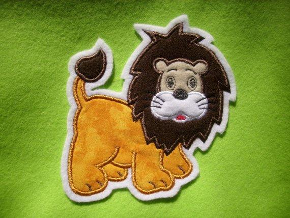 - niedlicher Löwe ♥ Applikation ♥ Aufnäher ♥  - niedlicher Löwe ♥ Applikation ♥ Aufnäher ♥