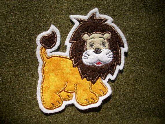 Kleinesbild - niedlicher Löwe ♥ Applikation ♥ Aufnäher ♥