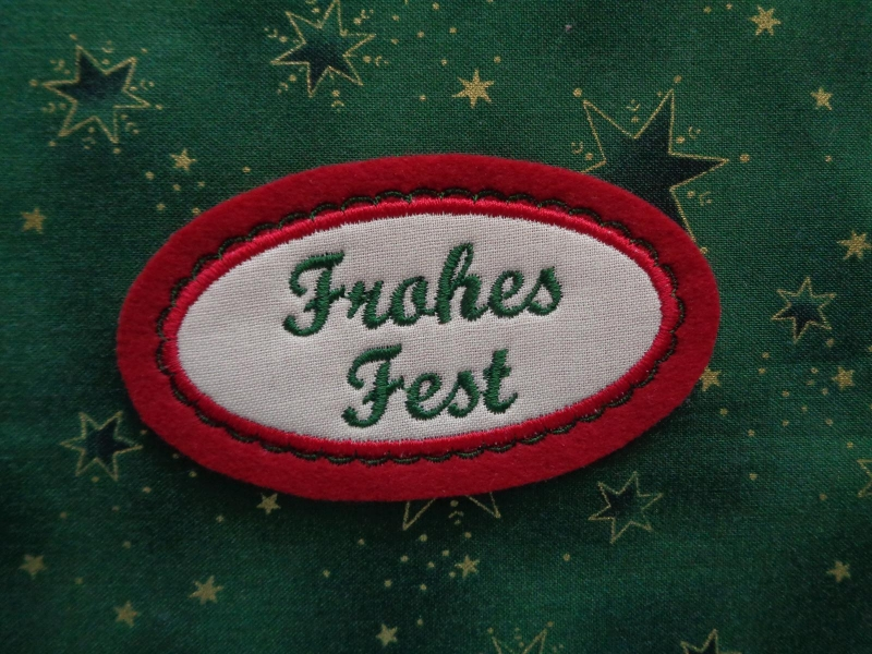 - Applikation ☆ Aufnäher ☆ Frohes Fest  - Applikation ☆ Aufnäher ☆ Frohes Fest