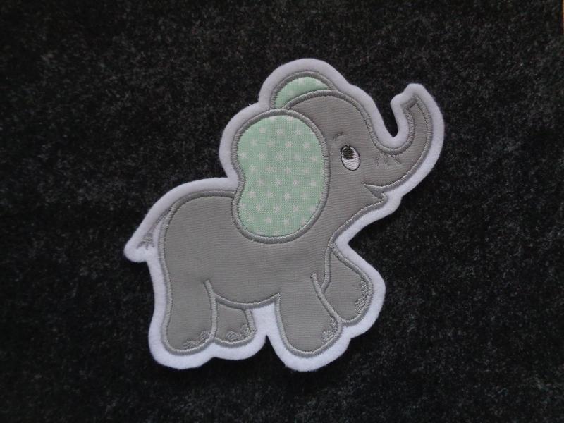 - niedlicher Elefant ♥ grau ♥ Applikation ♥ Aufnäher ♥ - niedlicher Elefant ♥ grau ♥ Applikation ♥ Aufnäher ♥