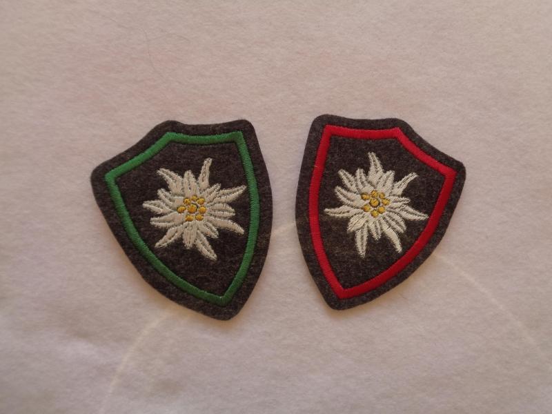 - ♥ Aufnäher ♥ Applikation ♥ Wappen mit gest. Edelweiss, Edelweisswappen - ♥ Aufnäher ♥ Applikation ♥ Wappen mit gest. Edelweiss, Edelweisswappen