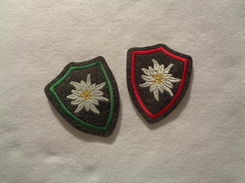 Kleinesbild - ♥ Aufnäher ♥ Applikation ♥ Wappen mit gest. Edelweiss, Edelweisswappen