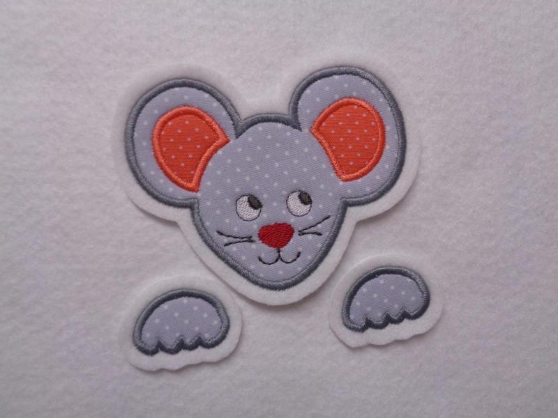 Kleinesbild - niedliche Maus ♡  3 tlg. ♡  Applikation ♡  Aufnäher  (Kopie id: 100148291)
