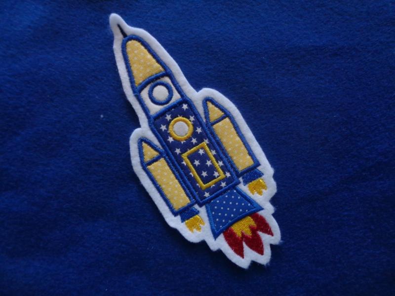 - süsse Rakete, Raumschiff ♥ Applikation/Aufnäher ♥   - süsse Rakete, Raumschiff ♥ Applikation/Aufnäher ♥