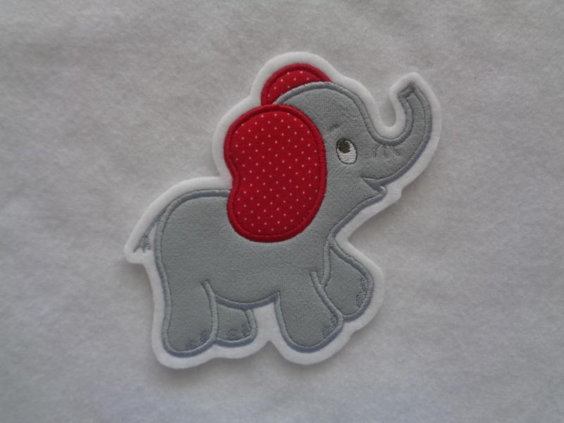Kleinesbild - niedlicher Elefant ♥ grau ♥ Applikation ♥ Aufnäher ♥ (Kopie id: 100161658)