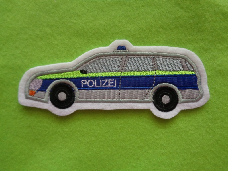 Kleinesbild -  ♥  Polizeiauto ♥   Applikation ♥ Aufnäher ♥