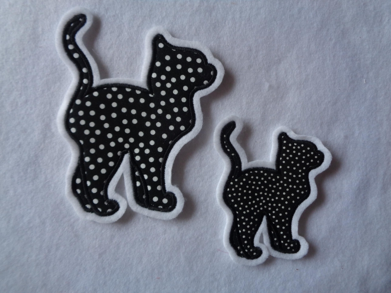 - Katze ♡ Kätzchen ♡  Applikation ♡  Aufnäher   - Katze ♡ Kätzchen ♡  Applikation ♡  Aufnäher