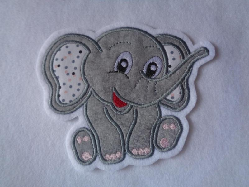 Kleinesbild -  ☆ Aufnäher ☆ Applikation  ☆ süsser Elefant sitzend (Kopie id: 100215091)
