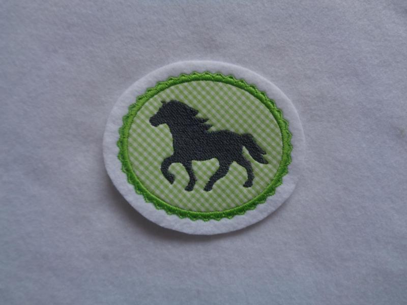 Kleinesbild - Pony gestickt ♥ süsse Applikation ♥ Aufnäher oder zum Aufbügeln ♥