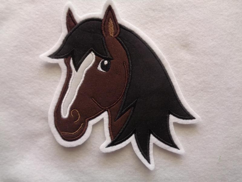 - Applikation ♥ Pferdekopf ♥ braun ♥ Aufnäher oder zum Aufbügeln - Applikation ♥ Pferdekopf ♥ braun ♥ Aufnäher oder zum Aufbügeln