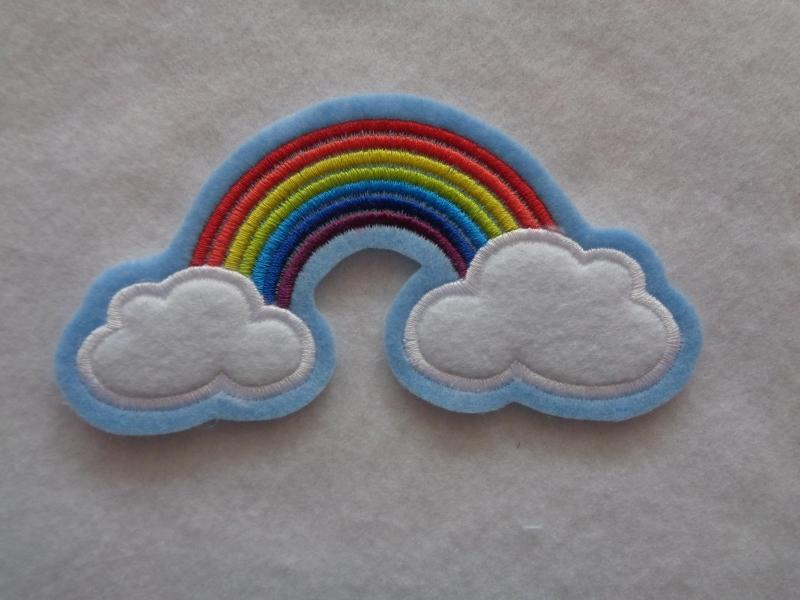 - niedlicher  Regenbogen mit Wolken ☆ Applikation  ☆ Aufnäher   - niedlicher  Regenbogen mit Wolken ☆ Applikation  ☆ Aufnäher