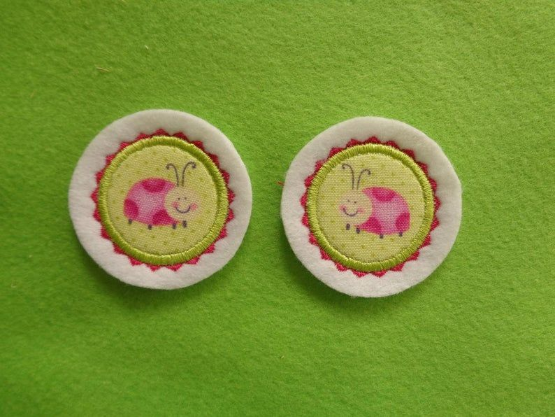 - Mini-Button Käferle 2-er-Set ♥ Applikation ♥ Aufnäher ♥   - Mini-Button Käferle 2-er-Set ♥ Applikation ♥ Aufnäher ♥