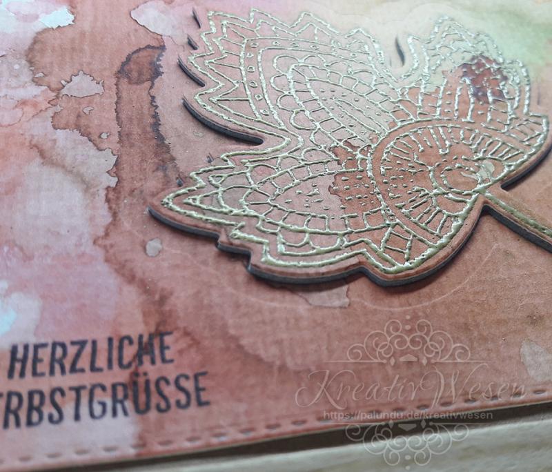 Kleinesbild - Grußkarte ☀ Herzliche Herbstgrüße ☀ Neutrale Grußkarte ☀ 3D-Grußkarte