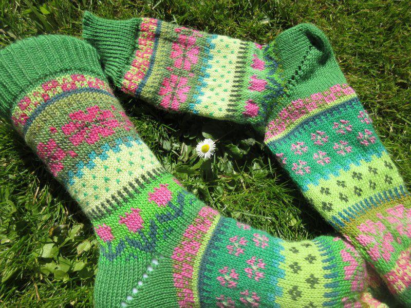 - Bunte Socken MaiFavorit Gr. 40/41 - gestrickte Socken Fair Isle - Bunte Socken MaiFavorit Gr. 40/41 - gestrickte Socken Fair Isle