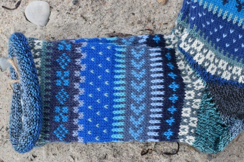 Kleinesbild - Bunte Socken Gr.40/41 - gestrickte Socken ind nordischen Fair Isle  Mustern