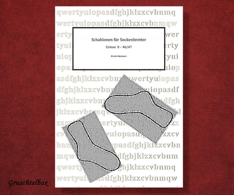 - Schablonen für Sockenbretter zum Herstellen von Maßschablonen für Socken, PDF Datei - Schablonen für Sockenbretter zum Herstellen von Maßschablonen für Socken, PDF Datei