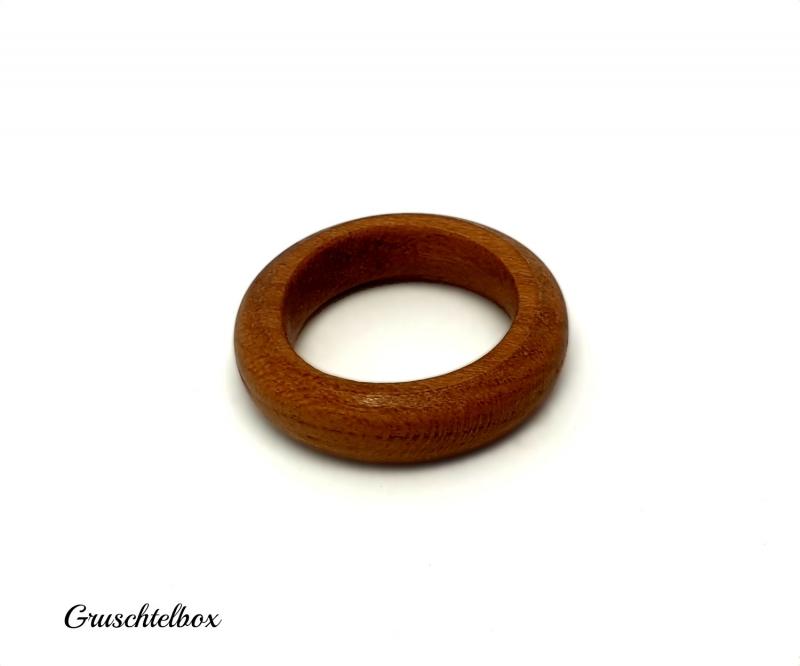 Kleinesbild - Holzring gedrechselt aus Zwetschgenholz, Ringgrösse 52
