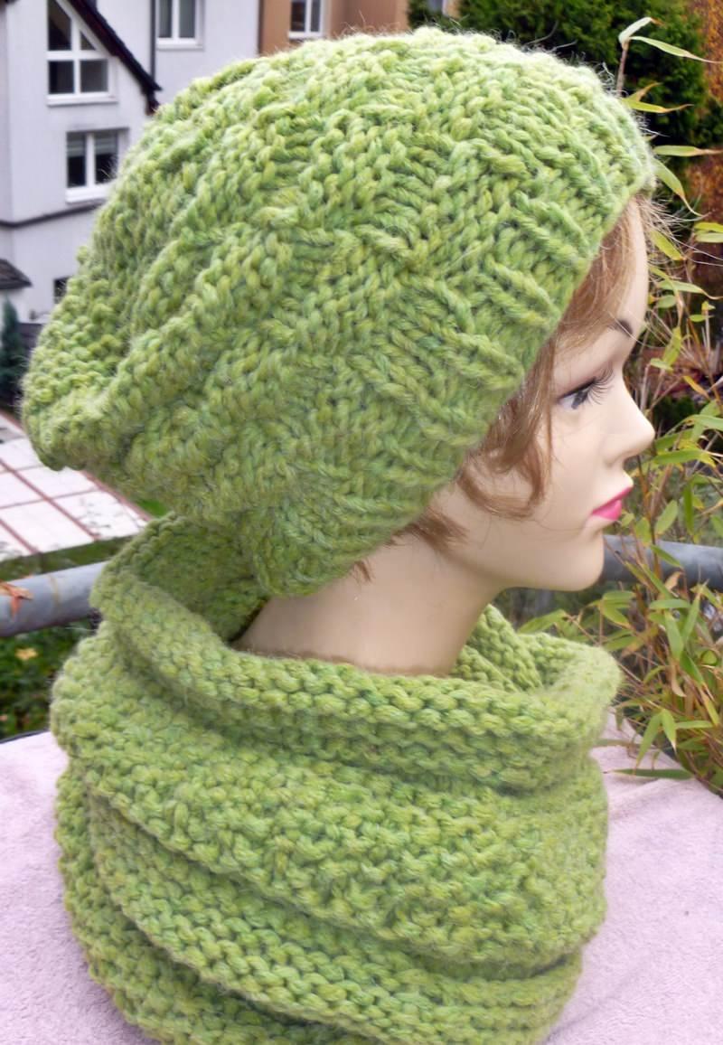 Kleinesbild - Mütze**Beanie***grün**mit Alpaka***onesize
