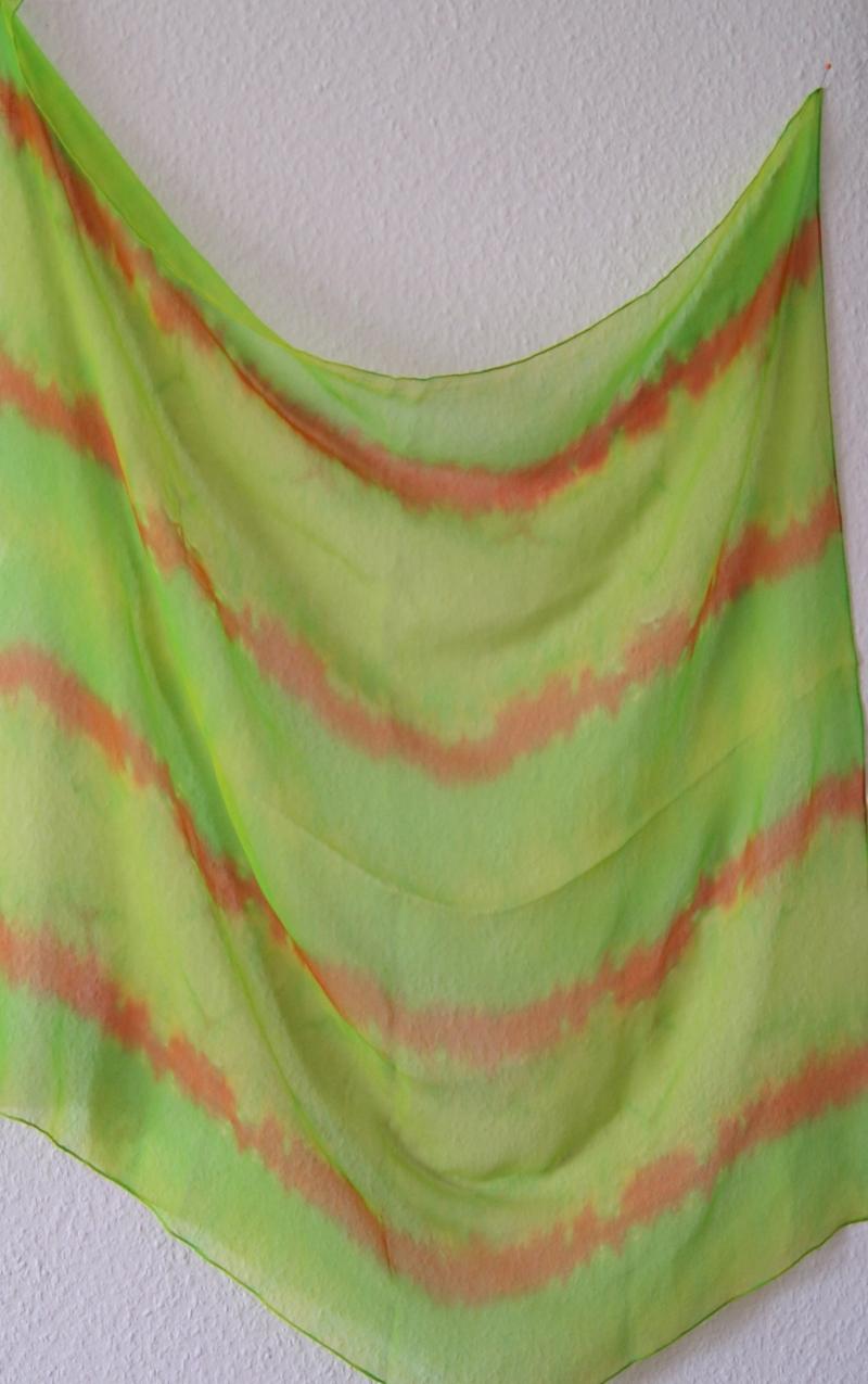 Kleinesbild - 14 // Chiffontuch in strahlenden Farben - ca.90x90cm - 100% Seide