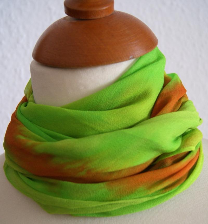 - 14 // Chiffontuch in strahlenden Farben - ca.90x90cm - 100% Seide - 14 // Chiffontuch in strahlenden Farben - ca.90x90cm - 100% Seide