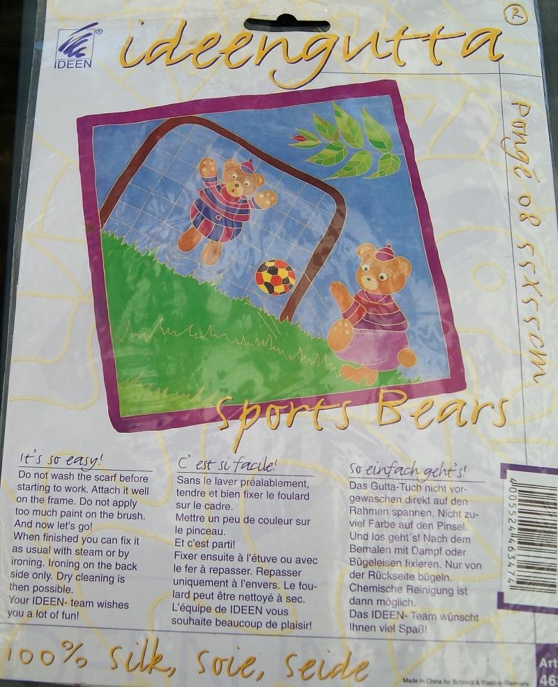 - SPORTS BEARS - originalverpacktes Nickitüchlein für Kinder von ideengutta  - ca. 55x55cm - Pongé8 - SPORTS BEARS - originalverpacktes Nickitüchlein für Kinder von ideengutta  - ca. 55x55cm - Pongé8