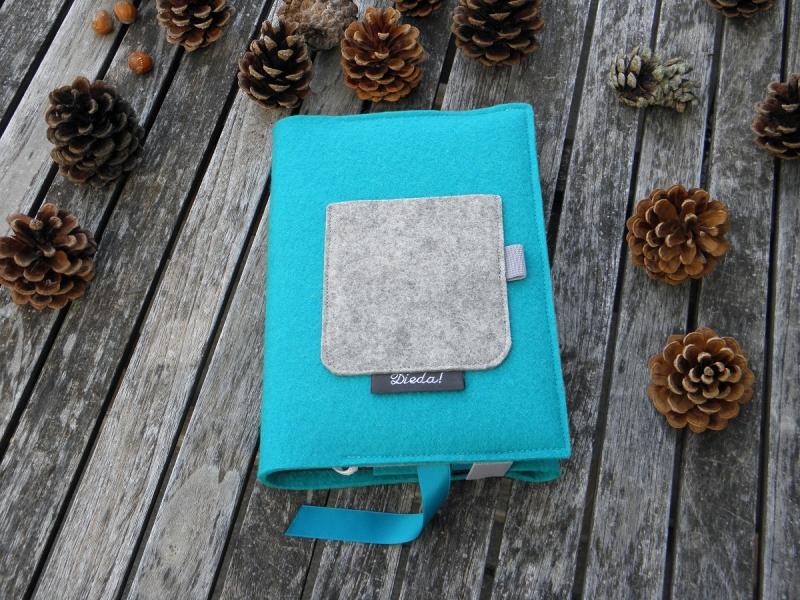 - Kalenderhülle DIN A5, Buchhülle variabel aus Wollfilz, von Dieda! - Kalenderhülle DIN A5, Buchhülle variabel aus Wollfilz, von Dieda!