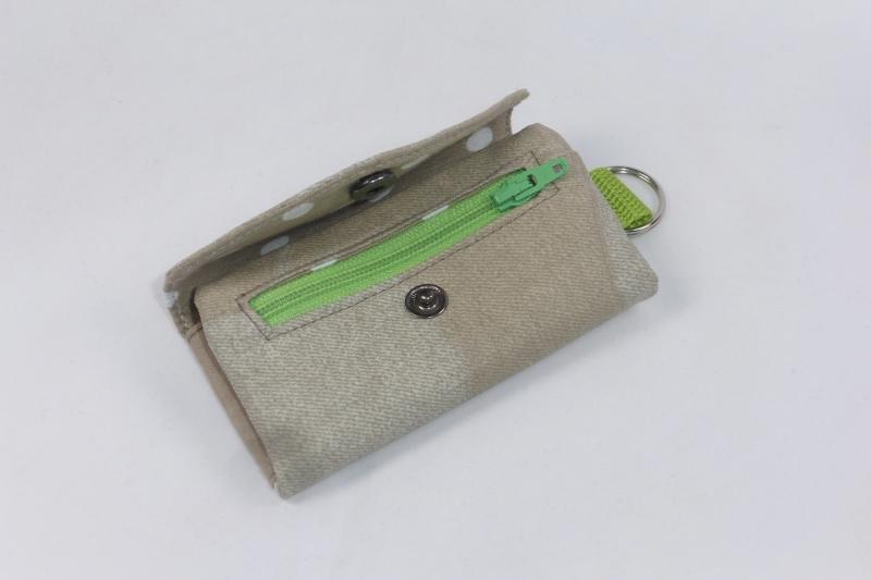 Kleinesbild - Praktisches Schlüsselmäppchen mit Reißverschlussfach, Schlüsseletui, beschichtete Baumwolle, beige, Portkey, Wittsich, Dieda