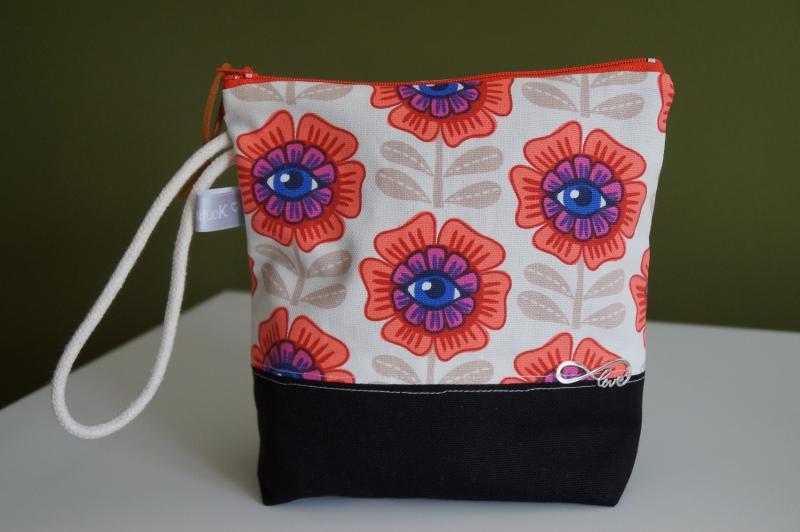 -  Kosmetik Tasche/ Cluch farbenfroh und fröhlich  ♥   -  Kosmetik Tasche/ Cluch farbenfroh und fröhlich  ♥