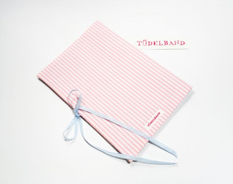 Kleinesbild - U-Hefthülle Mutterpasshülle Hefthülle...Herzchen an der Leine...♡... rosa...geblümt