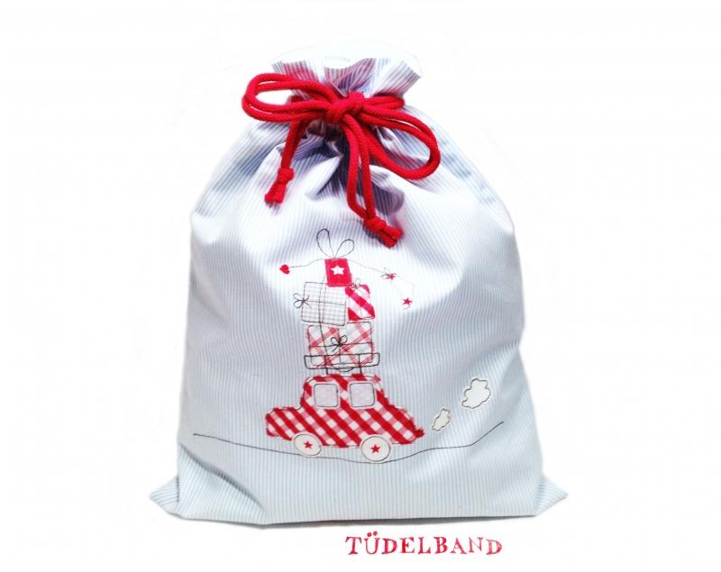 - Turnbeutel Geschenkebeutel...Auto mit Geschenken...★... hellblau...rot - Turnbeutel Geschenkebeutel...Auto mit Geschenken...★... hellblau...rot
