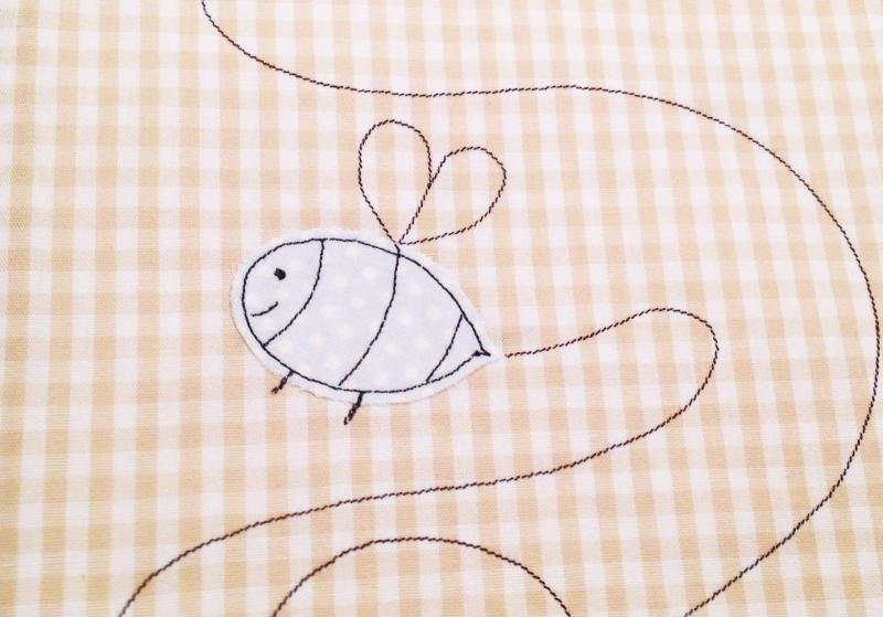 Kleinesbild - Babywaschlappen...das Schnutentuch...Sumsebienchen...sand...hellblau