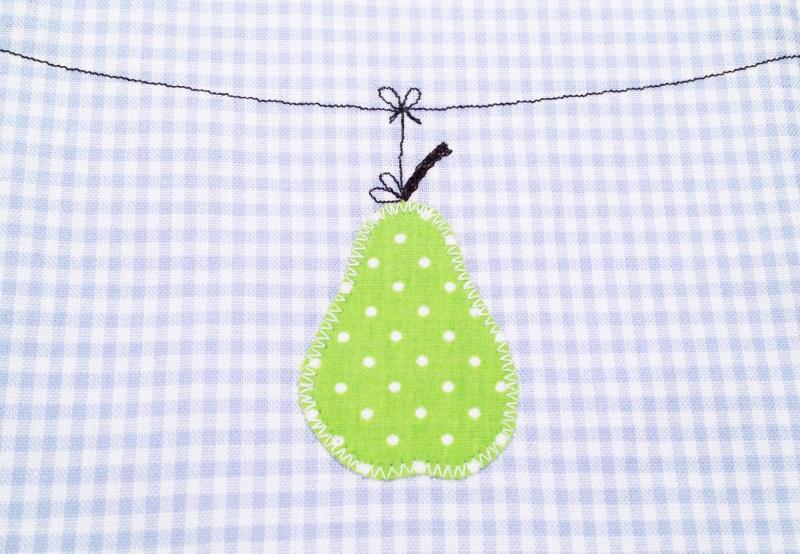 Kleinesbild - Babywaschlappen...das Schnutentuch...Birnchen an der Leine...hellblau...grün...