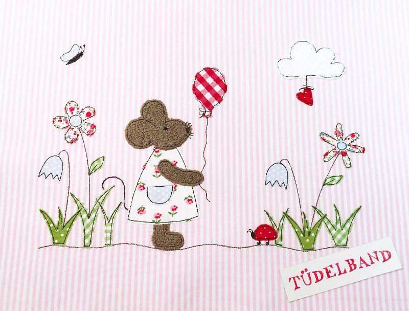 Kleinesbild - Kissen ...kleine Blumenwiese... ♡ ... rosa...geblümt...von Tüdelband...