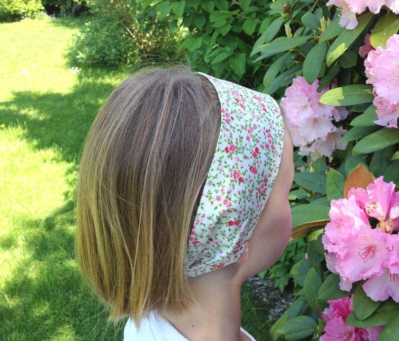 Kleinesbild - Haarband ...Blümchenduft...hellblau...geblümt...