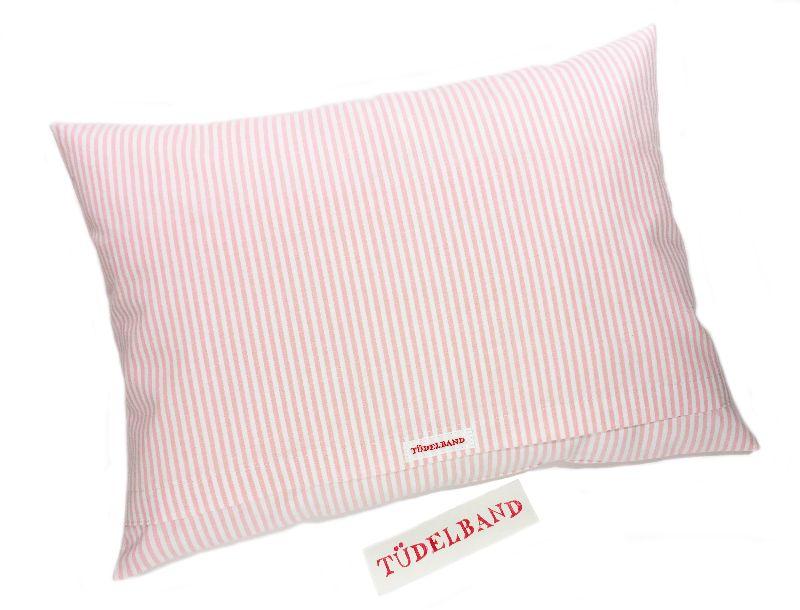 Kleinesbild - Kissen ...kleine Blumenwiese...Häschen... rosa...geblümt...von Tüdelband...