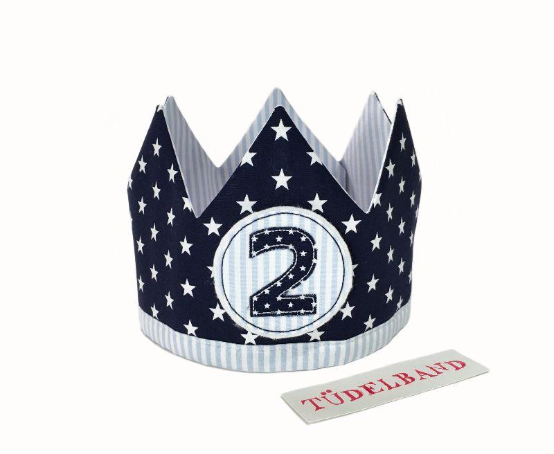 Kleinesbild - Krone...Wendekrone... Geburtstagskrone ...hellblau...dunkelblau... ★