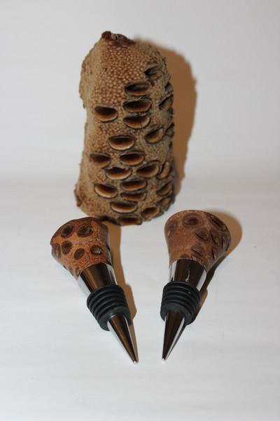 Kleinesbild - Flaschenverschluss / Zierkorken aus Banksia