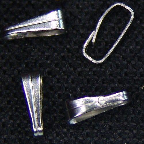 Kleinesbild - 10x Collierschlaufe klein 7x3mm Stahl rostfrei Anhängeröse z. Öffnen