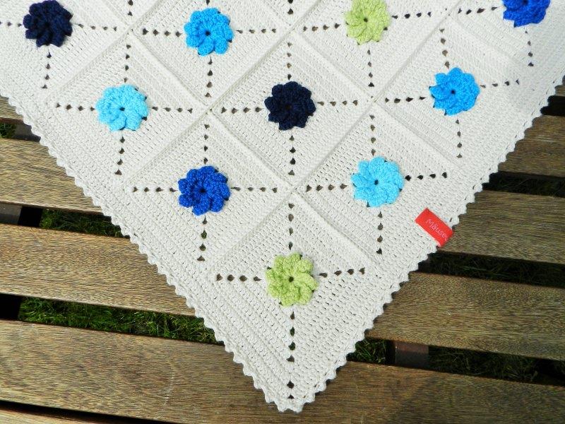 Kleinesbild - Babydecke *bright flower* No. 1 100% Baumwolle ca. 85 x 85 cm ♥Mäusewerkstatt♥