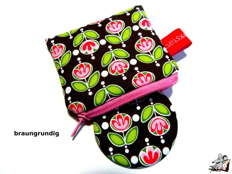 - Taschenspiegel-Set *tulips* braun ♥Mäusewerkstatt♥ - Taschenspiegel-Set *tulips* braun ♥Mäusewerkstatt♥