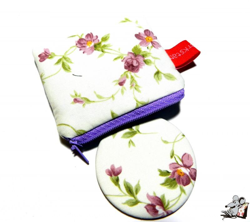 - Taschenspiegel-Set *Röschen* flieder ♥Mäusewerkstatt♥ - Taschenspiegel-Set *Röschen* flieder ♥Mäusewerkstatt♥