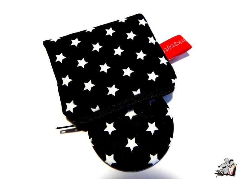 - Taschenspiegel-Set *Sternchen* schwarz ♥Mäusewerkstatt♥  - Taschenspiegel-Set *Sternchen* schwarz ♥Mäusewerkstatt♥