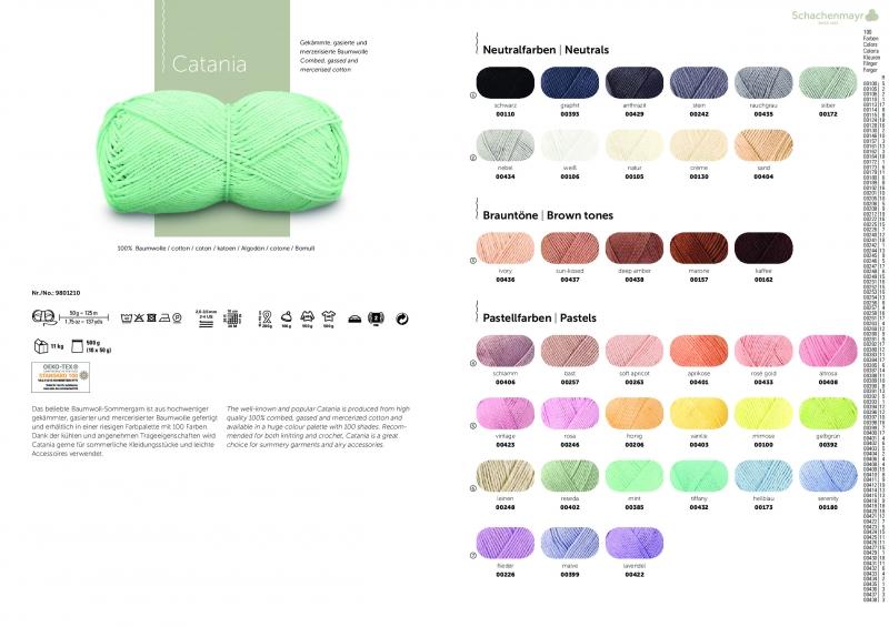 Kleinesbild - Catania No. 114 cyclam (von Schachenmayr) 100% Baumwolle ♥Mäusewerkstatt♥
