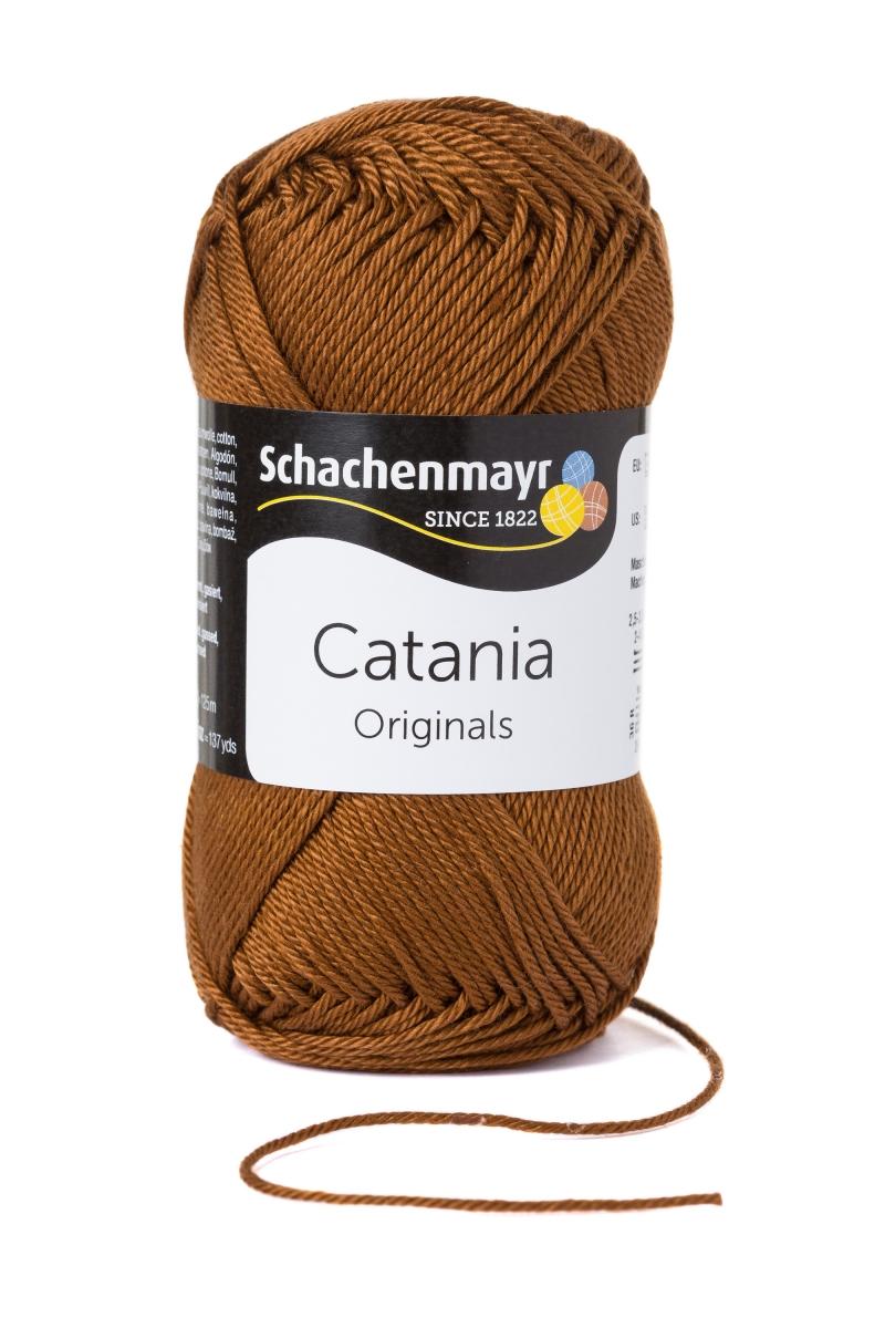 Kleinesbild - Catania No. 157 marone (von Schachenmayr) 100% Baumwolle ♥Mäusewerkstatt♥