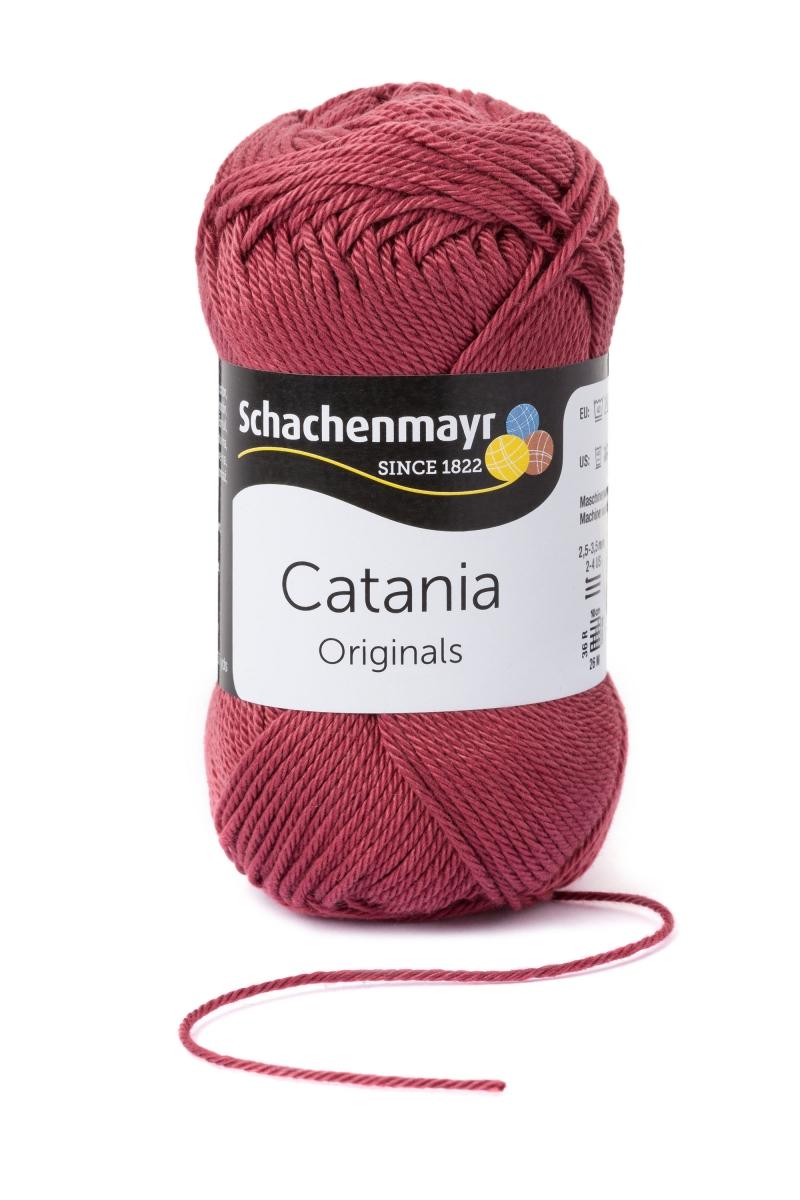 Kleinesbild - Catania No.396 marsalarot 100% Baumwolle (von Schachenmayr) ♥Mäusewerkstatt♥