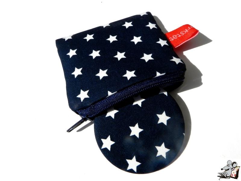 - Taschenspiegel-Set *Sternchen* dunkelblau ♥Mäusewerkstatt♥ - Taschenspiegel-Set *Sternchen* dunkelblau ♥Mäusewerkstatt♥